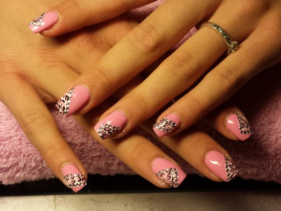 Acrylnagels met nail art